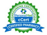 PersonalMed Compounding Certification cCert logo for certified pharmacy.