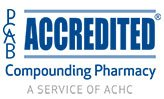 PCAB accredited compounding pharmacy.
