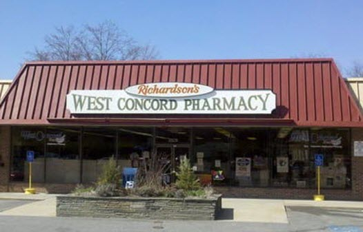 West Concord Pharmacy was formerly Richardson's Drug Company.