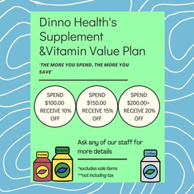 Dinno Health Supplement & Vitamin Value Plan