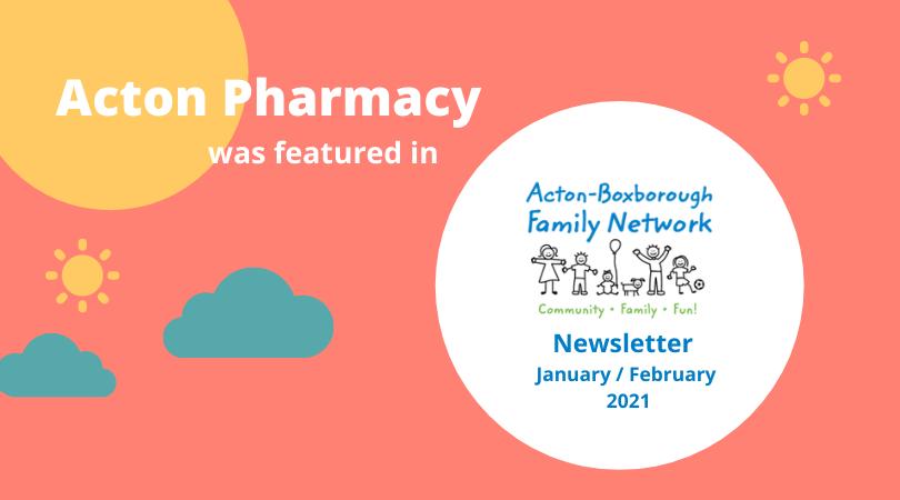 Acton Pharmacy in ABFN Newsletter
