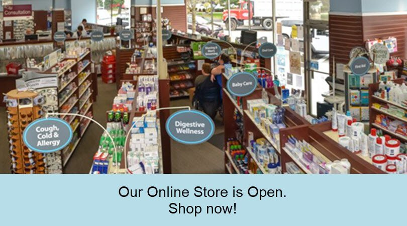 West Concord Pharmacy Online Store is open